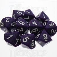 TDSO Opaque Purple 10 x D10 Dice Set