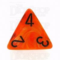 Chessex Vortex Orange & Black D4 Dice