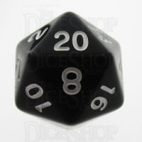TDSO Opaque Black D20 Dice