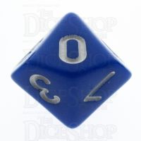 TDSO Opaque Blue D10 Dice