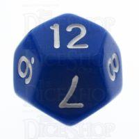 TDSO Opaque Blue D12 Dice