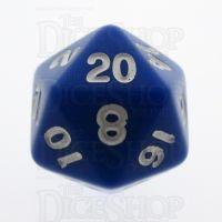 TDSO Opaque Blue D20 Dice