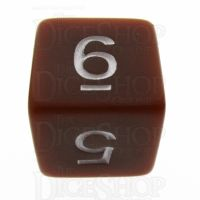 TDSO Opaque Brown D6 Dice