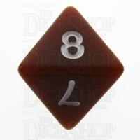 TDSO Opaque Brown D8 Dice