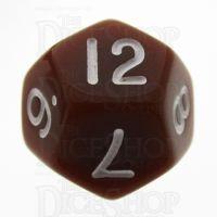 TDSO Opaque Brown D12 Dice