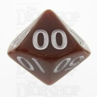 TDSO Opaque Brown Percentile Dice