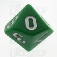 TDSO Opaque Green D10 Dice