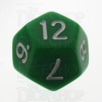 TDSO Opaque Green D12 Dice