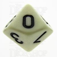 TDSO Opaque Ivory D10 Dice