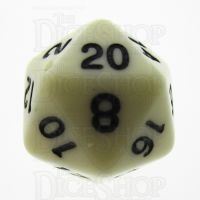 TDSO Opaque Ivory D20 Dice