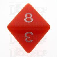 TDSO Opaque Orange D8 Dice