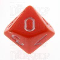 TDSO Opaque Orange D10 Dice