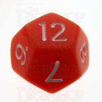 TDSO Opaque Orange D12 Dice