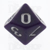 TDSO Opaque Purple D10 Dice