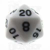 TDSO Opaque White D20 Dice