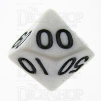 TDSO Opaque White Percentile Dice