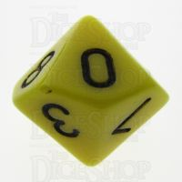 TDSO Opaque Yellow D10 Dice