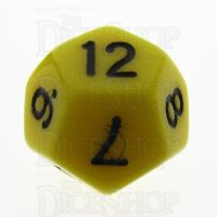 TDSO Opaque Yellow D12 Dice