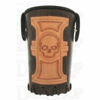 QD Inquisitor Brown Leather Dice Cup