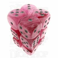 Chessex Ghostly Glow Pink 12 x D6 Dice Set