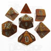 Chessex Glitter Gold 7 Dice Polyset