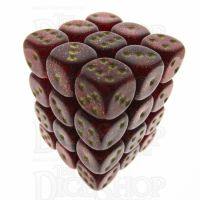 Chessex Glitter Ruby 36 x D6 Dice Set