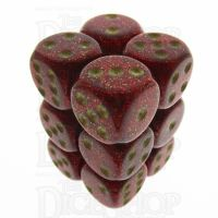 Chessex Glitter Ruby 12 x D6 Dice Set