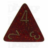 Chessex Glitter Ruby D4 Dice