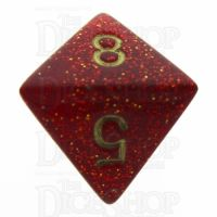 Chessex Glitter Ruby D8 Dice