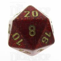 Chessex Glitter Ruby D20 Dice