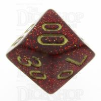 Chessex Glitter Ruby Percentile Dice