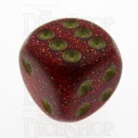 Chessex Glitter Ruby 16mm D6 Spot Dice