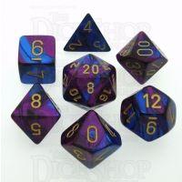 Chessex Gemini Blue & Purple 7 Dice Polyset