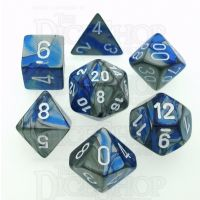 Chessex Gemini Blue & Steel 7 Dice Polyset