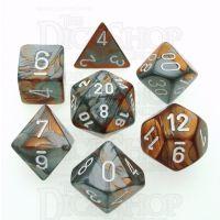 Chessex Gemini Copper & Steel 7 Dice Polyset