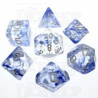 TDSO Eldritch Swirl Blue 7 Dice Polyset