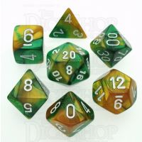 Chessex Gemini Gold & Green 7 Dice Polyset