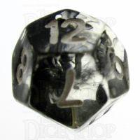 TDSO Eldritch Swirl Black D12 Dice