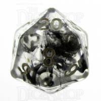 TDSO Eldritch Swirl Black D20 Dice