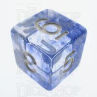 TDSO Eldritch Swirl Blue D6 Dice