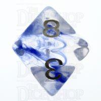 TDSO Eldritch Swirl Blue D8 Dice