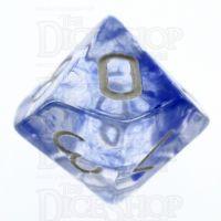 TDSO Eldritch Swirl Blue D10 Dice
