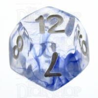 TDSO Eldritch Swirl Blue D12 Dice