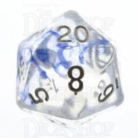 TDSO Eldritch Swirl Blue D20 Dice
