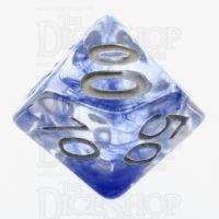 TDSO Eldritch Swirl Blue Percentile Dice