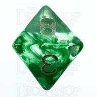 TDSO Eldritch Swirl Green D8 Dice