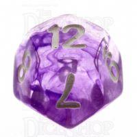 TDSO Eldritch Swirl Purple D12 Dice