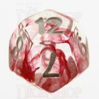TDSO Eldritch Swirl Red D12 Dice
