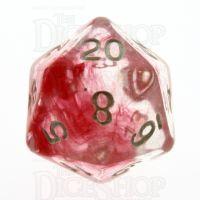 TDSO Eldritch Swirl Red D20 Dice