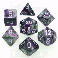 Chessex Gemini Purple & Steel 7 Dice Polyset
